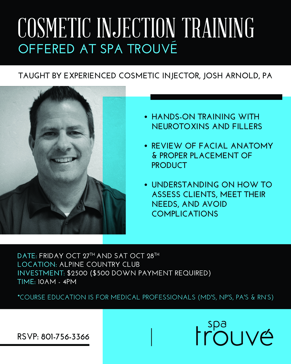 Cosmetic injection training spa trouv for 27th street salon salt lake city