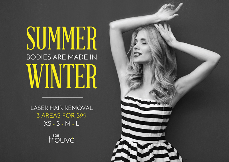 Don't Miss Out - $99 For 3 Areas - Laser Hair Removal - Spa